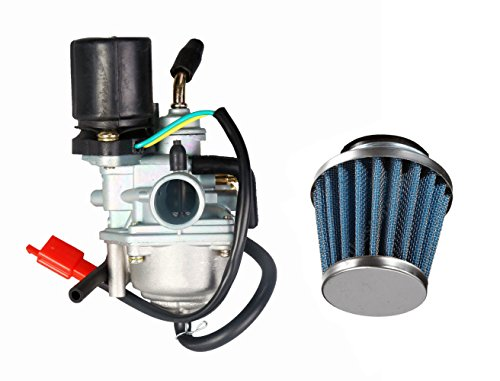 Carburetor & Air Filter Fits for Polaris Sportsman Predator Scrambler 50 90 , Replace for 2 Stroke Dinli 50cc 70cc 90cc 100cc 110cc ATV