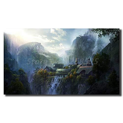 Moda Pintura Lienzo El Señor De Los Anillos Lotr Wallpaper Wall Art Canvas Poster Y Print Painting Imagen Decorativa Para La...