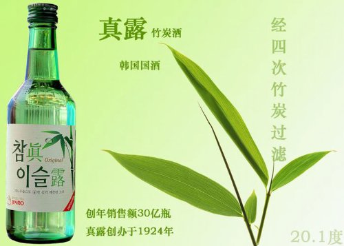 Jinro Hitejinro Soju, Chamisul Original Bebida Espirituosa Vol. 20,1% Vol - 350 ml