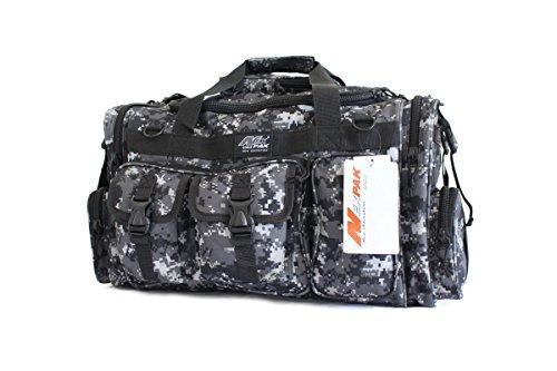 "NPUSA 26"" Tactical Duffle Military Molle Gear Shoulder Strap Range Bag TF126 Urban Camouflage"