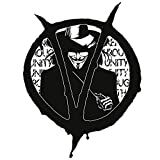 Finest Folia V como Vendetta Pegatinas 13 x 10 cm Autoaufkleber para automóviles, camiones, motocicletas coche accesorios adhesivo decorativo decoración R106 (negro)