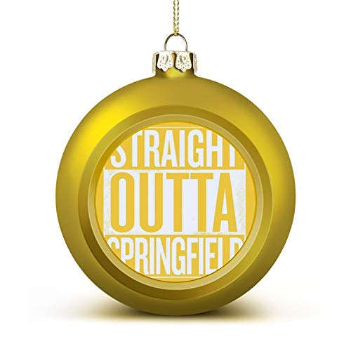 Straight Outta Springfield The Simpsons White Anti-Drop Christmas Ball Ornaments, Plastic Ornaments Christmas Balls, Various Holiday Party Decorations