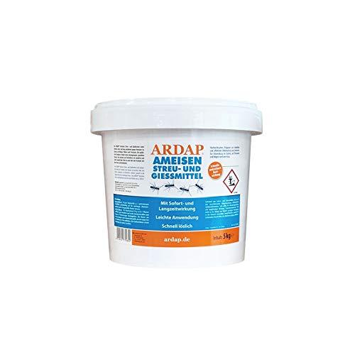 ARDAP Ameisen Streu- & Gießmittel 5kg - Insektizid Granulat mit Sofortwirkung für die Bekämpfung von Ameisen, Ameisenstraßen & Ameisennester