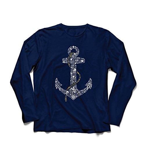 lepni.me Heren T-Shirt Zoute Zeeman Anker, Zee Marine Zeeman Shirt, Zeilen en Yachting Kleding