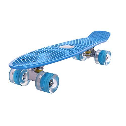 WFFF Kinderkreuzer 24''X8 '' Skateboard Mit LED-Lichträdern Plastik Penny Board Für Anfängerinnen Unisex Skateboards,a