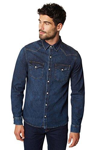 WOTEGA Herren Jeans Hemd Stephen - Western Jeanshemd, Midnight Navy (4110), XXL