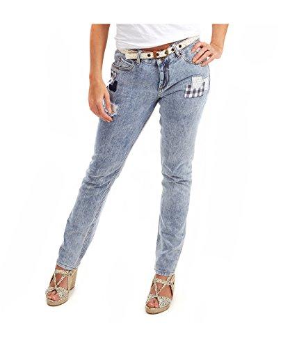 Joe Browns Patchwork, Jeans Dritti Donna, Blu (A-Mid Wash), W32/L35