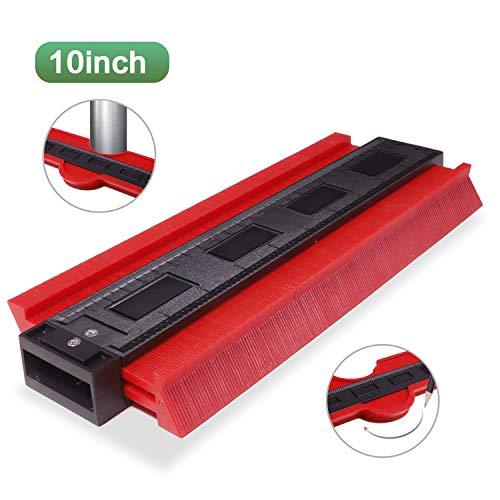 KonturenlehreGroß250mmKonturmessgerätProfillehre Kontur Duplikator Kopierlehre SchnittverläufenMarkierwerkzeuge für Unregelmäßiges Profil, Fliesen, Laminat Messwerkzeug (Rot)