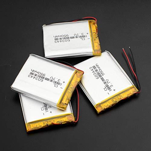 CNMMGL 3.7v 950mah 603443 Batería Recargable De PolíMero De Litio, para Altavoz Bluetooth GPS Mp3 Mp4 PDA TacóGrafo 4pcs