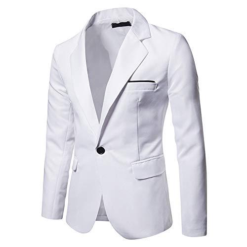 SALEBLOUSE Herren Anzugjacke Slim fit einfarbig Modern Sakko für Hochzeit Party Abschluss Business Loose Fit Herren Leinen Blazer Sakko Anzugjacke mit Knopf Freizeit
