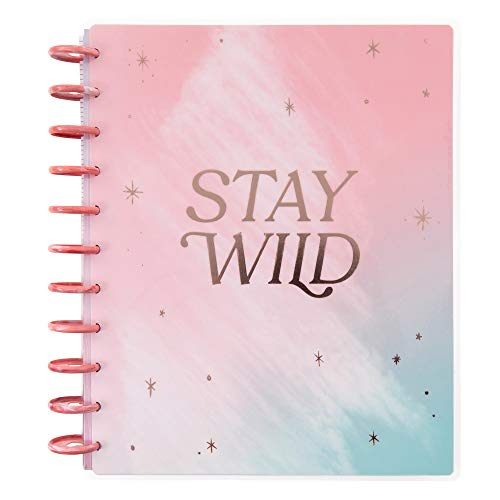 The Happy Planner - Stay Wild Moon Child Theme - January 2021 to December 2021 - Dashboard Layout - Weekly & Monthly Disc-Bound Pages - Scrapbook - Big Size