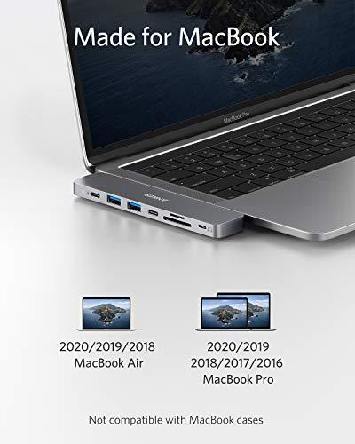 Anker PowerExpand Direct 8-in-2 USB-C Adapter, USB-C Hub für MacBook mit Multi-Funktion USB-C Port, 4K HDMI, USB-C & USB-A 3.0 Datenports, SD/microSD Speicherkarten, Lightning-Audioport