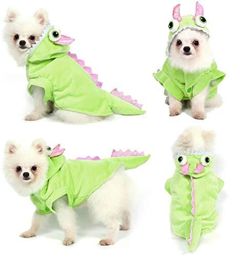 Jihan Dog Cat Dragon Halloween Cosplay Disfraz con capucha Funny Clothess (Color as Shown)
