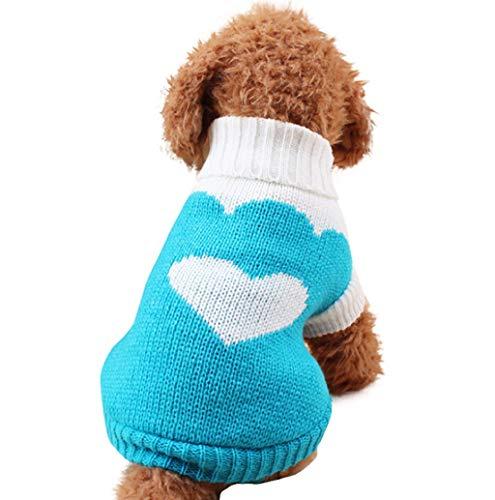 Mode Haustier Hund Katze Rollkragen Knitted Pullover Winter Hundepullover Warme Gestrickter Pullover Jacke Haustier Hunde Welpen Bekleidung T-Shirt Sweater für Kleine Hunde TWBB