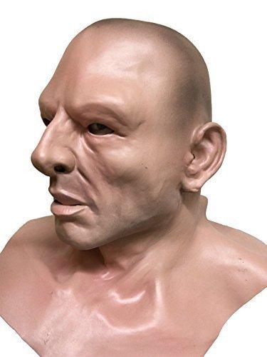 Calvo Guidato Uomo Duro, Thug, Geezer, Umano Viso, testa completa e shoulders Maschera In Lattice
