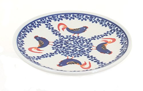 ザクワディ ボレスワヴィエツ陶器 にわとり柄プレート
