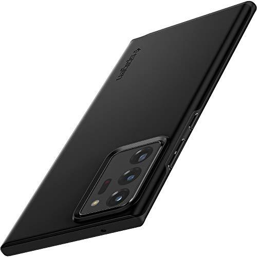 Spigen Thin Fit Kompatibel mit Samsung Galaxy Note 20 Ultra Hülle Dünn Silikon+PC Hardcase Leichte Schutzhülle Handyhülle Case Cover Schwarz ACS01388