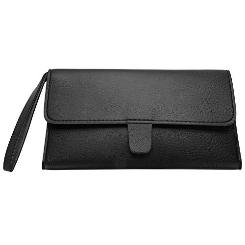 Faltbar Haar Schere Bag PU Leder Schere Taille Pack Barber, Professionelle Tragbare Multifunktionale...