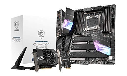 MSI Gaming Intel X299 LGA 2066 Thunderbolt M3 Wi-Fi 6 10G LAN DDR4 USB3.2 Gen 2 SLI CFX Extended ATX...