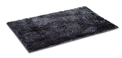 Internet's Best Microfiber Chenille Bath Mat - Non Slip Bathroom Rug - Soft Absorbent Carpet - Fast Drying Shower (34 x 20, Gray)