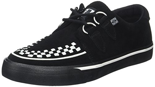 T.U.K. Unisex-Erwachsene VLK D Ring Creep Sneak BLK SDE WHT INT High-top, Black White Suede, 45 EU