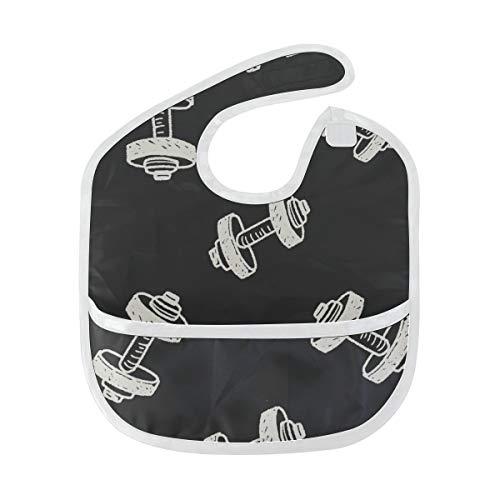 Zemivs Fitness Hantel Übung Benutzerdefinierte weiche wasserdichte Fleck geruchshemmend Baby Fütterung Dribble Sabber Lätzchen Spucktücher für Kleinkind insgesamt für 6-24 Monate Kind Geschenk