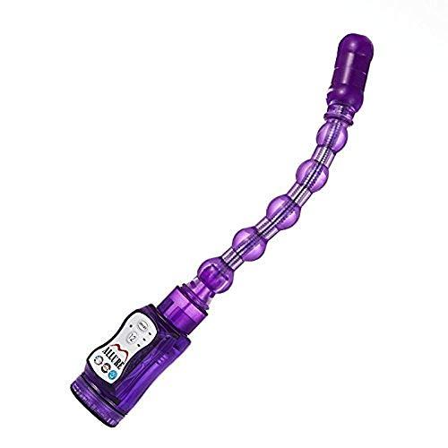Potente deformación rotatoria de 360 ° Long Pull Bead, 12 tipos de frecuencias de vibración a la diversión, su amante una gran felicidad
