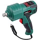 POSENPRO Torque Impact Wrench with Digital Clutch,1/2 inch 12 Volt Electric Impact Wrench Kit,221ft-lbs Max Torque,Tire Repair Tools with Sockets and Carry Case