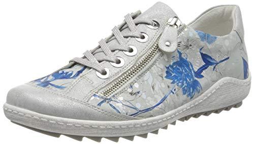 Remonte Damen R1402 Sneaker, Mehrfarbig (Ice/Offwhite-Blue 92), 41 EU