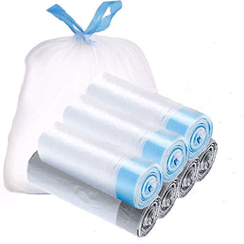 NewSeed ゴミ袋 15L 紐付き ひも付きゴミ袋 ごみ袋 取っ手付き 7ロール/98枚セット 縦50cm*横45 とって付き 収納袋 生ごみ袋 業務用 家庭用 キッチンバッグ