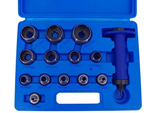 Locheisen-Satz 14-tlg Stanzeisen 5-35 mm Set Stanzwerkzeug Lochwerkzeug