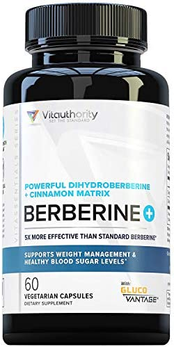 Berberine Ceylon Cinnamon Powerful Dihydroberberine Extract GlucoVantage 5X More Effective Than product image