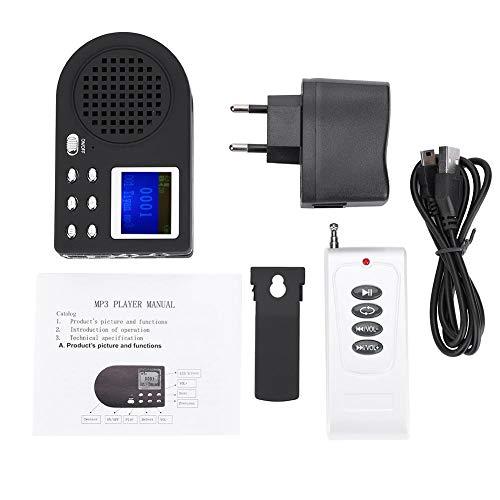 Elektronische Predator Call Vogeljagd Köder MP3 Birds Sound Player Tierlautsprecher Singing Device Verstärker, Unterstützt 12 V Power und Zwei Lautsprecher(1)