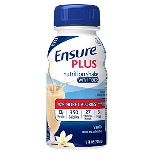 Ensure Plus Nutrition Shake with Fiber 13g HighQuality Protein Meal Replacement Shakes Vanilla 8 fl oz 24 count