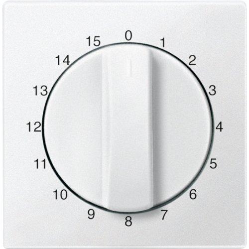 Merten 539019 centrale plaat voor tijdschakelaar 15 min, poolwit, systeem M