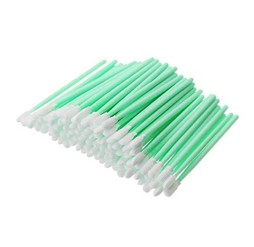 DeFFeng 100Pcs Poli¨¦ster Swab Sticks Microfibra Cabezal De Limpieza Swab Para Impresora Solvente Equipo ¨®ptico
