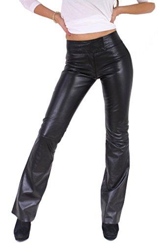 Preisvergleich Produktbild RICANO Low Cut 2 Damen Lederhose,  Lamm Nappa Echtleder,  schwarz (M)