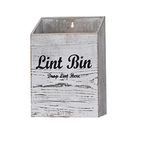 Magnetic Lint Bin for Laundry Room  Rustic Laundry Lint Holder Bin Wooden Lint Trash Can for Laundry Room for Space Saving in Farmhouse Laundry Room Organization or Decoration  Convenient for Lint Disposal Laundry Lint Box