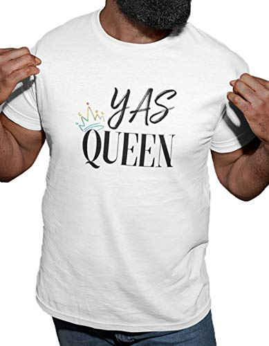 LeRage Yas Queen LGBTQA Shirt for Pride Month Gift Gay Rainbow Shirt for Queers by LeRage Men's