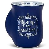 You Are Amazing Midnight Blue 14 Ounce Ceramic Handwarmer Mug