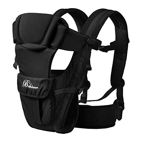 2-30 Months Baby Carrier, Ergonomic Kids Sling Backpack Pouch wrap Front Facing Multifunctional Infant Kangaroo Bag (Black)