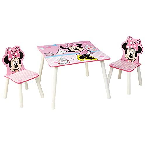 Worlds Apart Disney Conjunto de Mesa y Dos sillas, Madera, Rosa, One Size