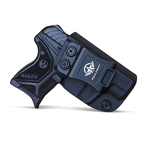 Ruger LCP 2 Holster IWB Kydex for Ruger LCP II - LCP 2 Pistol Case Pocket - Inside Waistband Carry Concealed Holster Ruger LCP 2 IWB Pistol Pouch Gun Accessories (Black, Right Hand Draw)