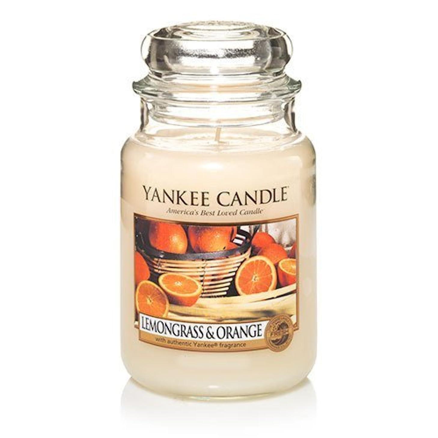 考慮マーチャンダイザー忘れっぽいYankee Candle Lemongrass & Orange - 22oz Large Housewarmer Jar by Yankee Candle [並行輸入品]
