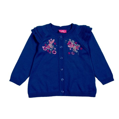 Pampolina: Mädchen Strickjacke 1/1 Arm Blau (98)