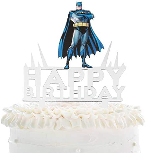 Batman Happy Birthday Cake Topper Justice League Theme Party Cake D cor Baby Shower Child Birthday product image