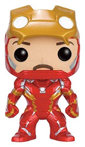 Funko Pop Marvel Capitão América Guerra Civil Iron Man 136 Sem Máscara