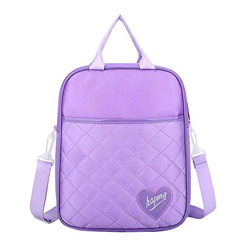 Monbedos Mochila para niños de PU con tutorial para niños, impermeable, para niñas y adolescentes, Purple (Morado) - 15583003348