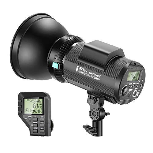 Neewer i6T EX Strobo Flash da Studio 600W 2,4G TTL 1/8000s HSS Compatibile con Nikon, con Wireless Trigger, Lampadina di Modellizzazione, Batteria a Litio & Attacco Bowens