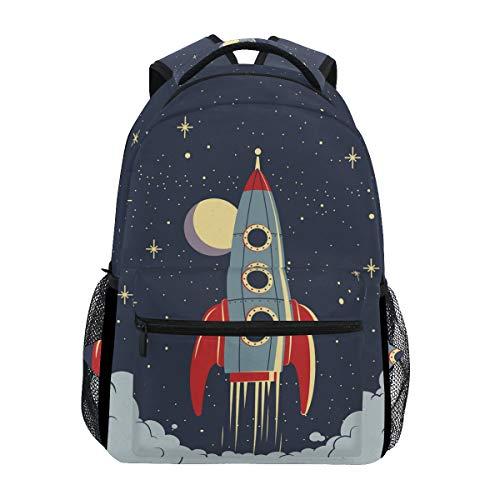 Cartoon-Rakete Schulter Student Rucksacks Bookbags Kinderrucksack Büchertasche Rucksäcke für Teen Mädchen Jungs